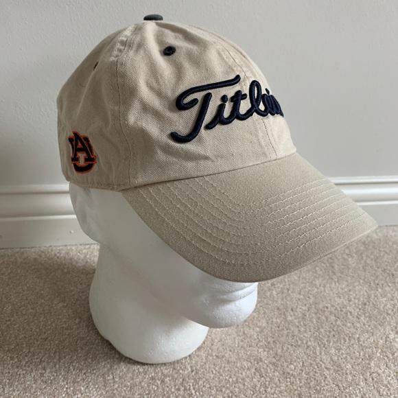 Auburn Tigers Titleist Golf Dad Hat Cap Tan